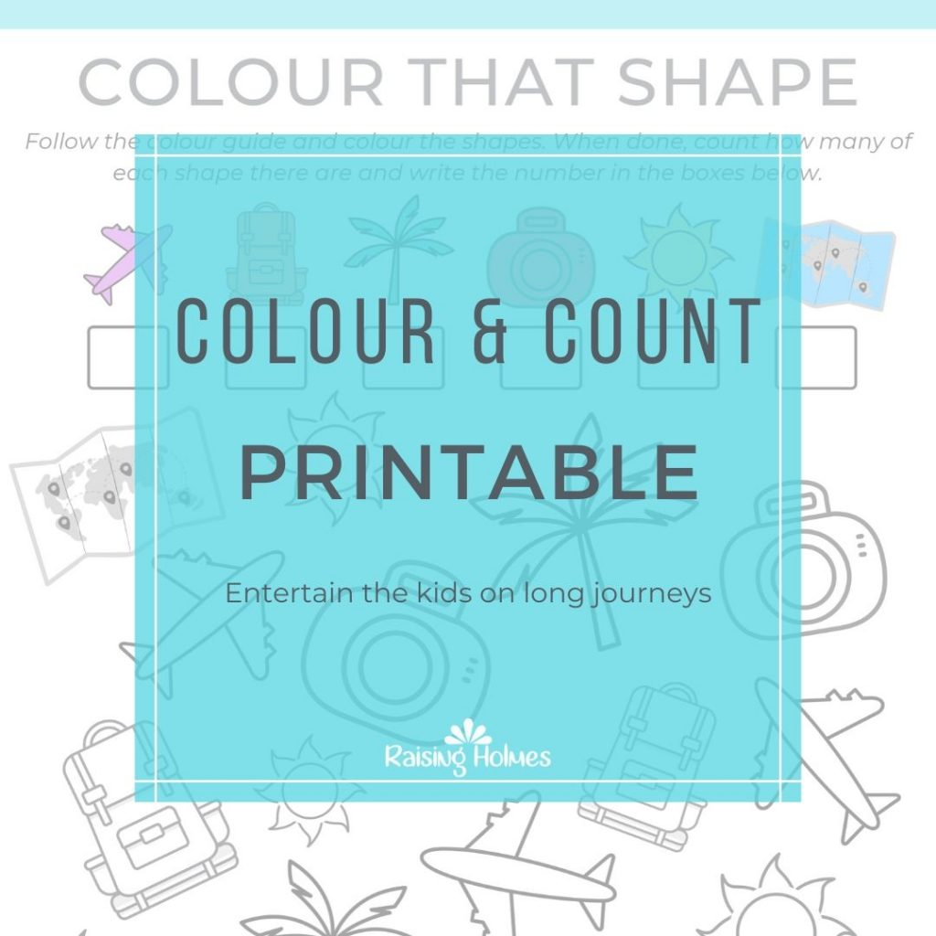 Free Resources for Kids Colour and Count Sheet