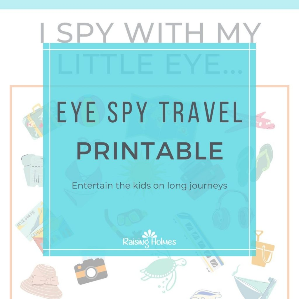 Free Resources for Kids Eye Spy Travel Sheet