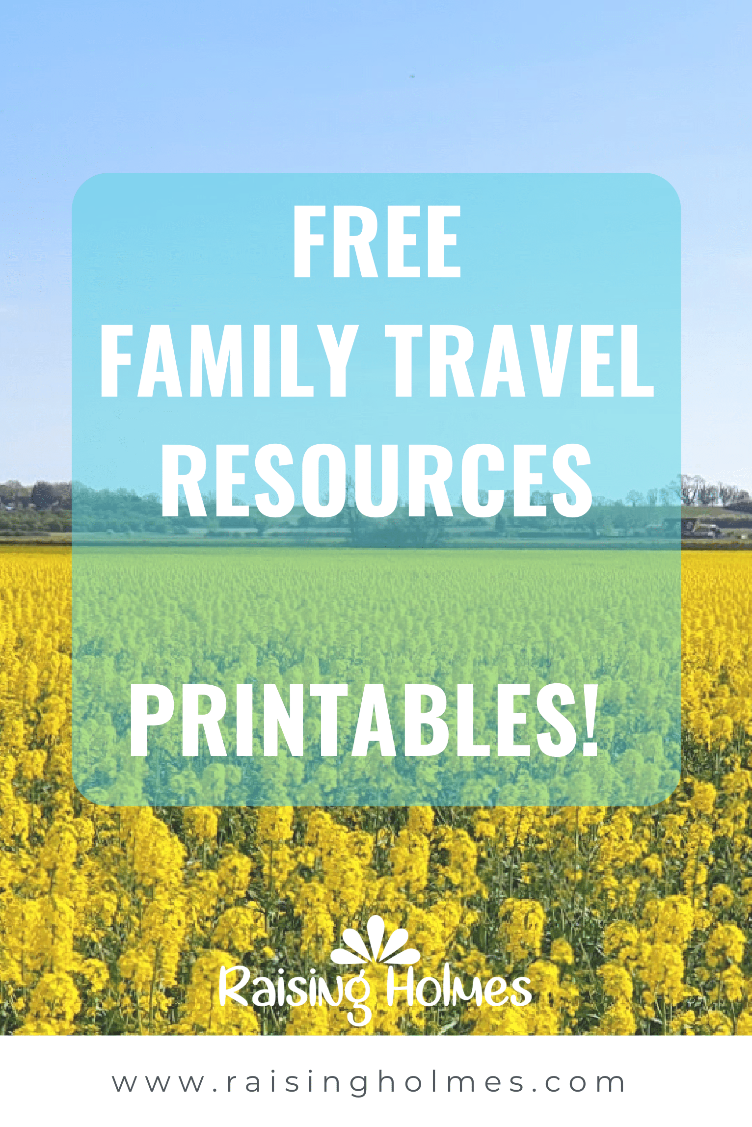 Free Family Travel Resources - Printables!